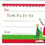 Kids Thank You Postcard for Christmas