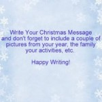 Writing A Christmas Letter
