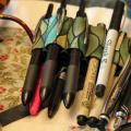 moleskine pen holder, pen holder, journaling