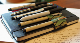 Moleskine Pen Holder, Journal Pen Holder, The Writing Life
