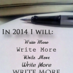 Write more often, write more, daily writing in 2014
